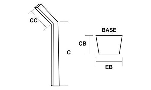 Mourões de Concreto Curvo Desenho Técnico