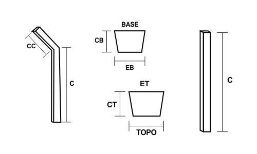 Mourões de Concreto Esquema Técnico