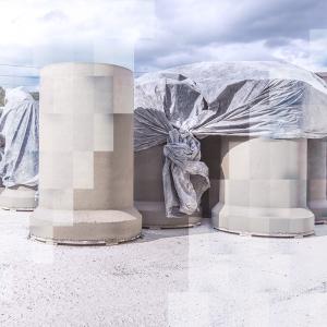 Secagem a céu aberto de tubos de concreto Jesus de Mari